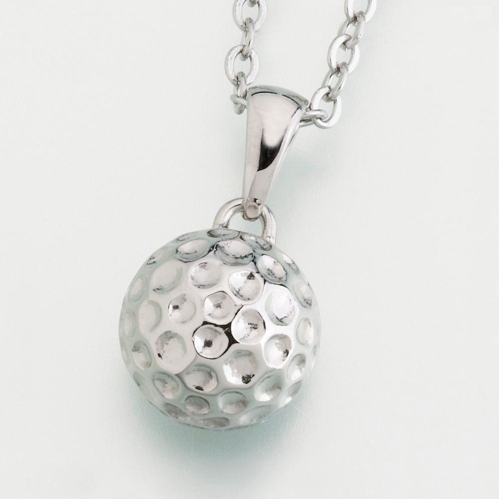 Stainless steel golf ball wchain madelyn pendants madelyn pendants stainless aloadofball Gallery