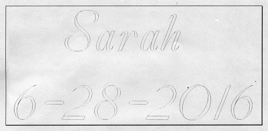Script Lettering Example
