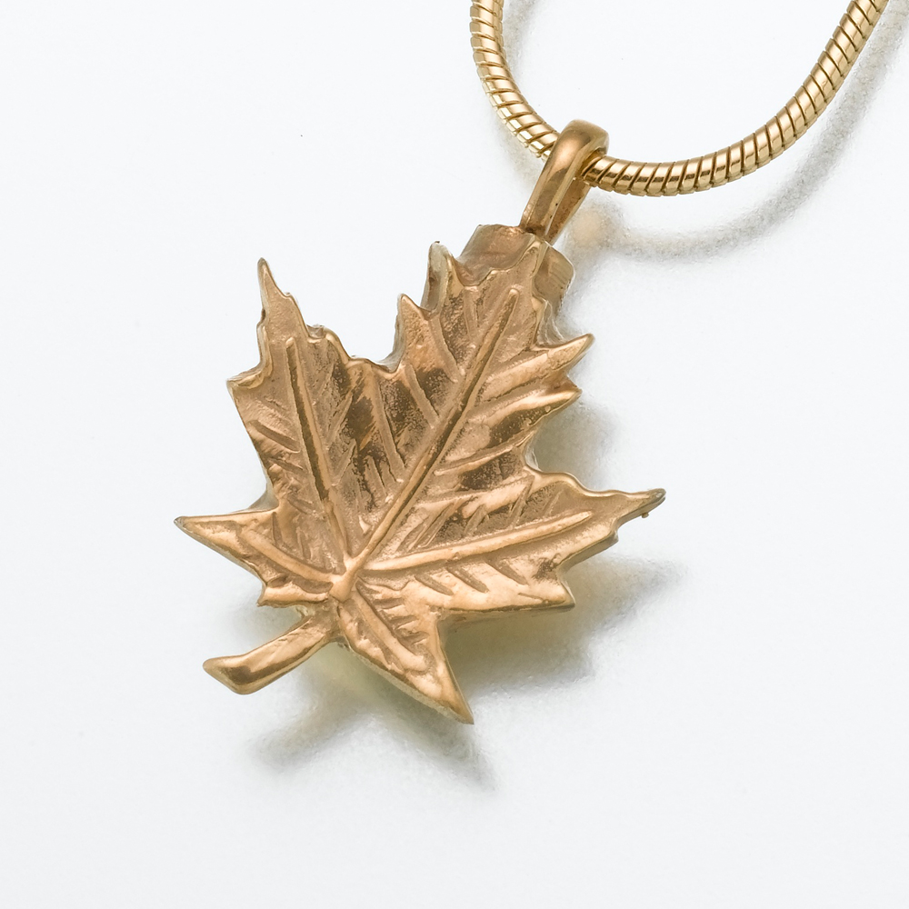 leaf gold necklace main clear product singh shop jewelry nkc maple amrita pendant