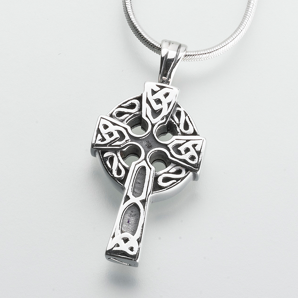 eve engravable stainless steel addiction necklace pendant celtic cross s